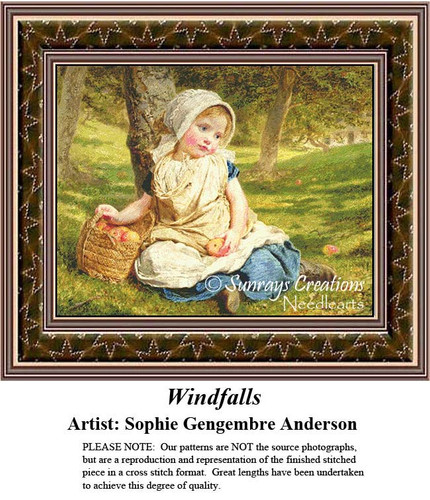 Fine Art Counted Cross Stitch Patterns | Windfalls