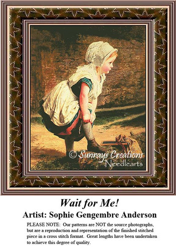 Fine Art Counted Cross Stitch Patterns | Wait For Me!