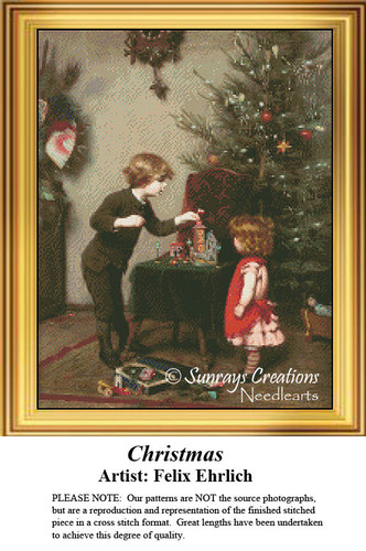 Vintage Cross Stitch Pattern | Christmas