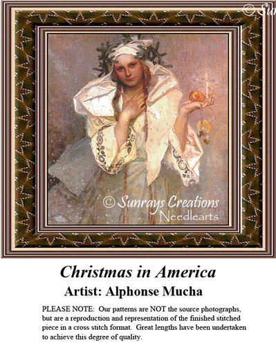 Fine Art Cross Stitch Patterns | Christmas in America