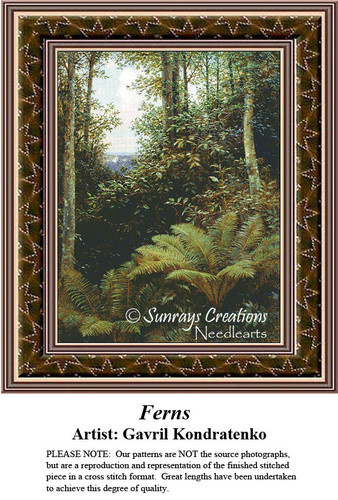 Fine Art Counted Cross Stitch Patterns | Ferns