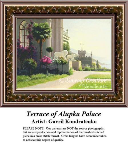 Fine Art Cross Stitch Patterns |Terrace of Alupka Palace