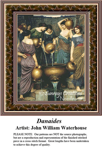 Fine Art Cross Stitch Patterns | Danaides