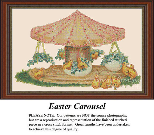 Easter Cross Stitch Pattern | Easter Carousel
