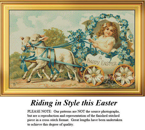Easter Cross Stitch Pattern | Riding in Style this Easter
