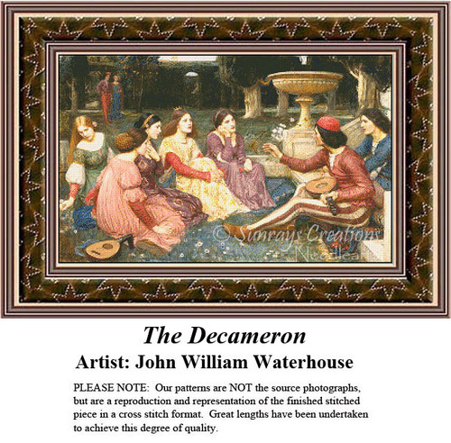 Fine Art Counted Cross Stitch Patterns | The Decameron