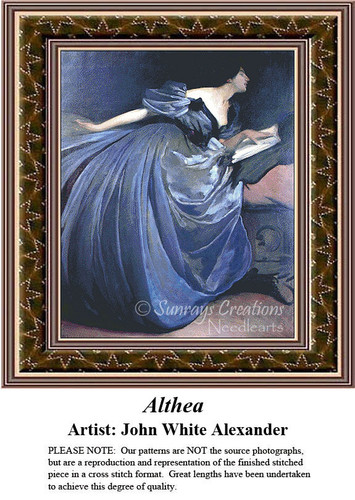 Fine Art Cross Stitch Patterns | Althea