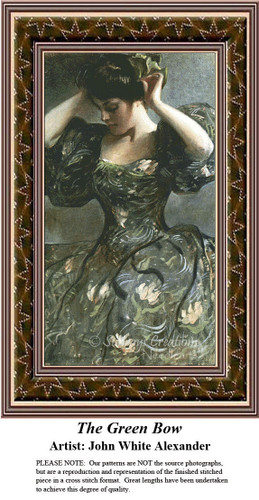 Fine Art Counted Cross Stitch Patterns | The Green Bow