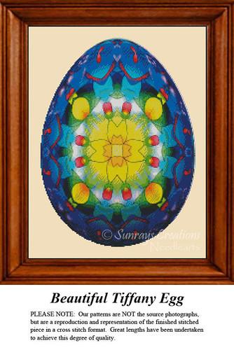 Fractal Cross Stitch Pattern | Beautiful Tiffany Egg