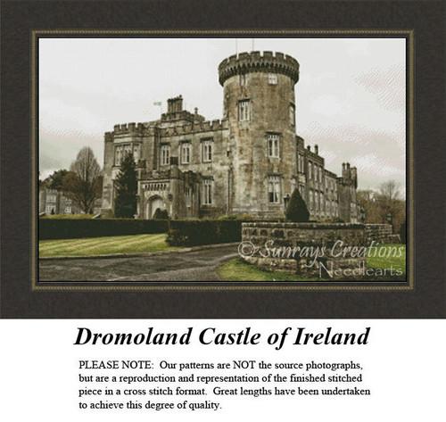Irish Counted Cross Stitch Pattern | Dromoland Castle of Ireland