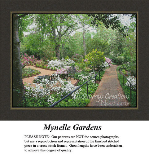 Landscape Cross Stitch Pattern | Mynelle Gardens