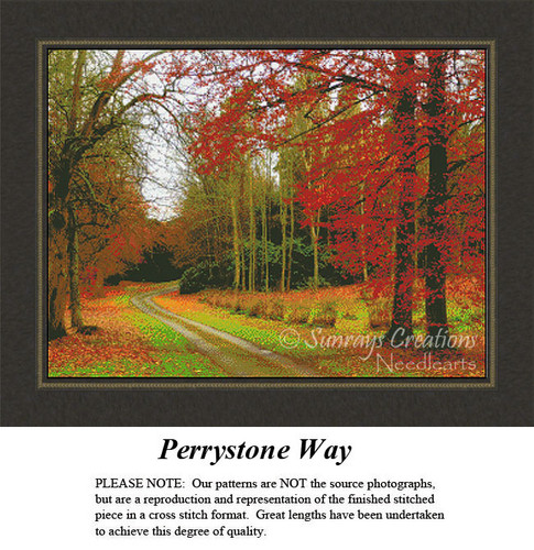 Landscape Cross Stitch Pattern | Perrystone Way