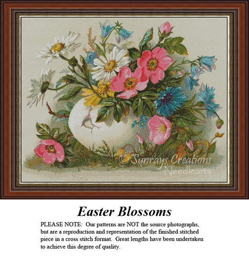 Vintage Cross Stitch Patterns | Easter Blossoms