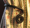 Scroll Curtain Tiebacks