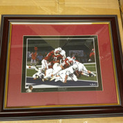 "ALABAMA CRIMSON TIDE FRAMED ART PICTURE "" The Goal Line Stand "" Special Edition"