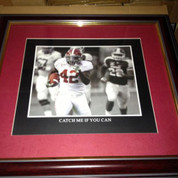 "ALABAMA CRIMSON TIDE FRAMED ART PICTURE "" Catch Me If You Can """