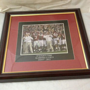 "ALABAMA CRIMSON TIDE FRAMED ART PICTURE LARGE ""IT'S PARTY TIME"" 18""x16.5"""