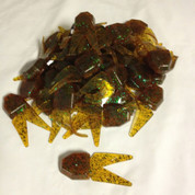 (50) Netbait Small Chunk Jig Trailer Bulk Rootbeer Pepper Green