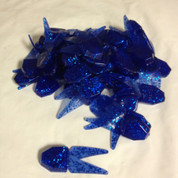 (50) Netbait Small Chunk Jig Trailer Bulk Sapphire Blue