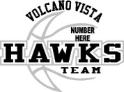 VOLCANO VISTA - (Basketball-14) CAR DECAL