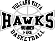 VOLCANO VISTA - (Basketball-23) CAR DECAL