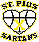 St Pius Sartans (Basketball-11-41) HOODIES