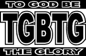 To God Be The Glory (Car Decal)