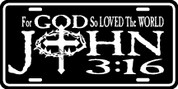 For GOD so Loved the World - John 3:16 - Plate