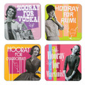Hooray Retro Coaster Set
