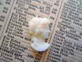 Ivory Glass Ladies Silhouette Cameo Cabochon 22x15mm