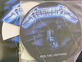 Metallica - Ride the Lightning-Blue-NEW LP Picture disc/die cut cover