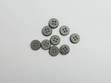 12 Grey textured shirt buttons, size 18