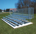 Jaypro Five Row Bleacher with Guard Rail - 21'