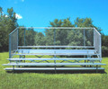 Jaypro Five Row Bleacher with Chain Link - 21'