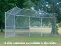 Jaypro 4-Panel Permanent Backstop with Center Overhang