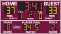 All American 8214 Basketball Scoreboard