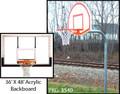 "Gared 3.5"" Gooseneck System W/ 36' X 48' Acrylic Backboard & Institutional Breakaway Rim"