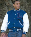 Varsity Leather Sleeve Jacket