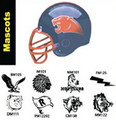 Custom Football Helmet Decals