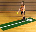 Proper Pitch Softball Pitching Mat with Stride Line