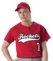 Alleson PROFJW Faux Front Women's Softball Jersey