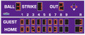 All American 8325LS Baseball Scoreboard