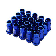 More Views  Godspeed Type 3 50mm Lug Nuts 20 pcs. Set M12 X 1.25 Blue
