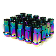 Godspeed Type 3 50mm Lug Nuts 20 pcs. Set M12 X 1.25 Neo Chrome