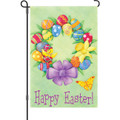 Happy Easter Wreath: Garden Flag