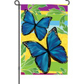 Bright Blue Butterflies: Garden Flag