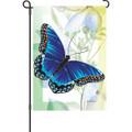 Sapphire Blue Butterfly: Garden Flag