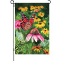 Cone Flowers and Monarch: Garden Flag