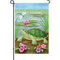 Turtle at the Pond: Garden Flag