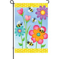 Bees and Flowers: Garden Flag